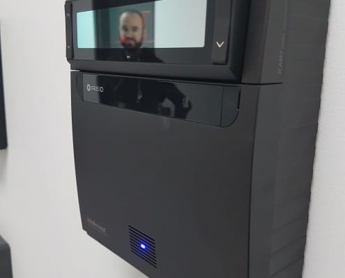 Access is secured by iris scanners and entry codes